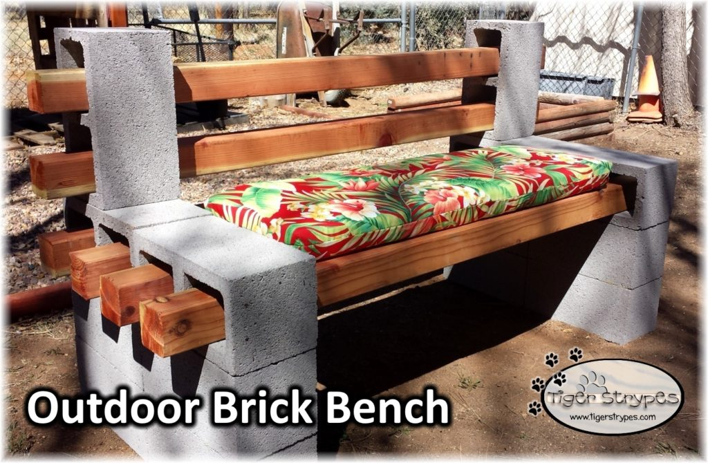Learn How To Make An Outdoor Brick Bench Tigerstrypesblog